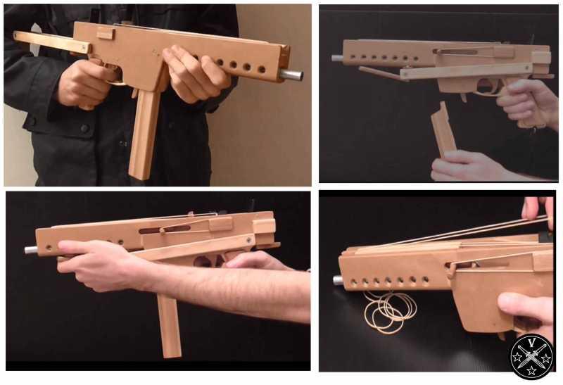 Резинкострел пистолет пулемет MAT9