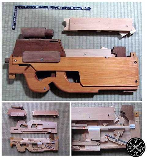 Резинкострел - пистолет пулемет FN90