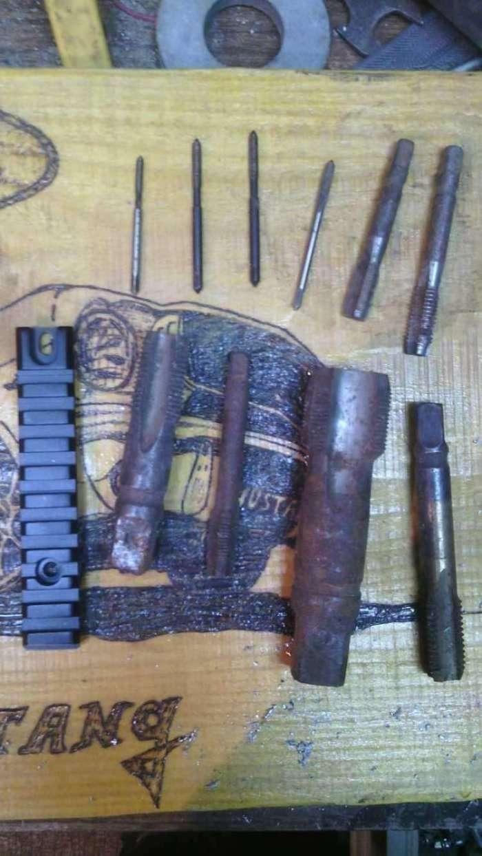 8)Монтируем планки weawer на Аникс