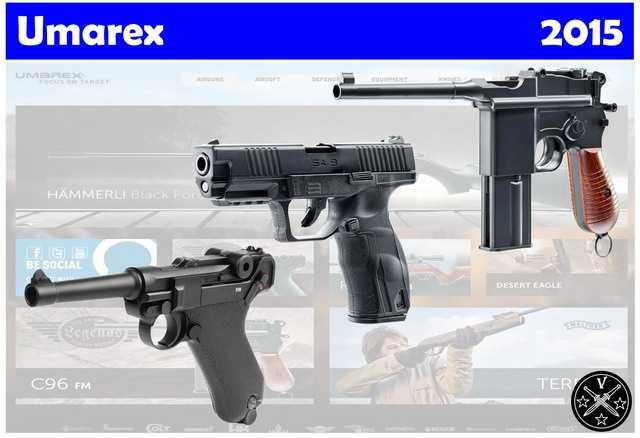 Новые пневматические пистолеты Umarex