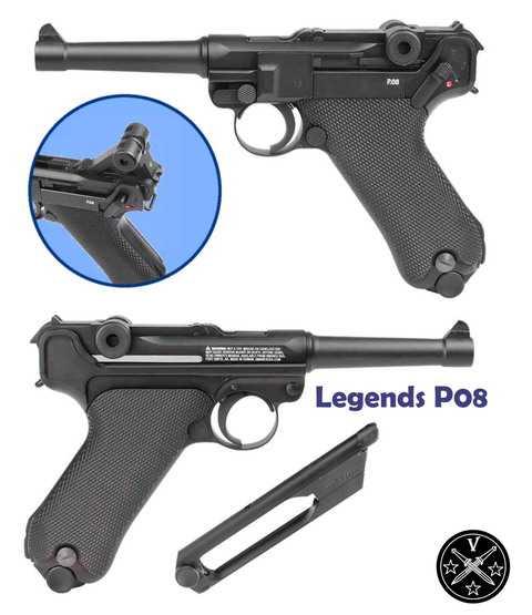Новый пневматический пистолет Umarex Legends P08 (Парабеллум с блоубэком)
