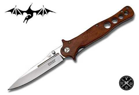 Складной нож Кондор с деревянными накладками рукояти