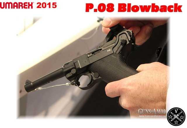 Luger P08 c имитацией отдачи затвора от Umarex