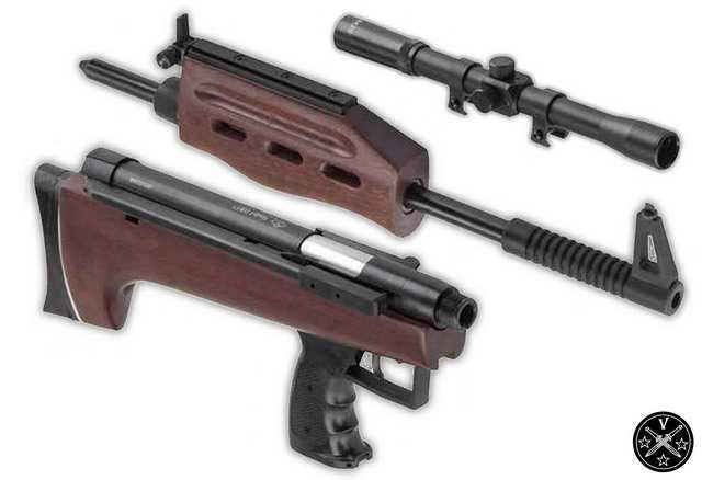 Основные части пневматической винтовки 57-ой кубик