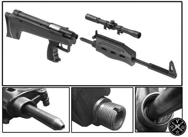 Соединение основных частей винтовки Shanghai QB-57между собой