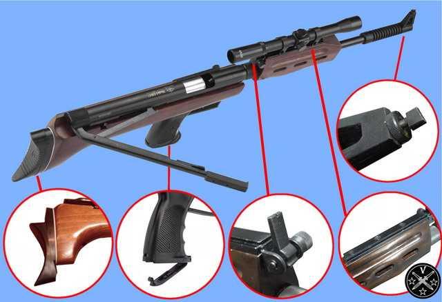Основные элементы конструкции китайской ПП винтовки QB-57