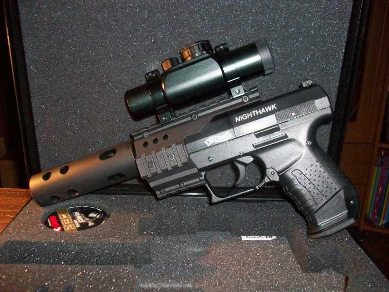 1)Обзор пневматическго пистолета Umarex Walther NightHawk