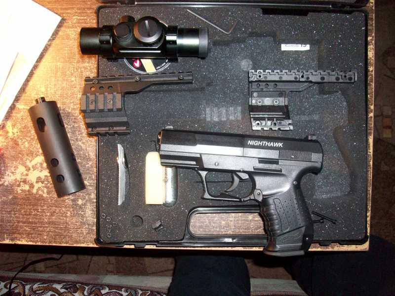 14)Обзор пневматическго пистолета Umarex Walther NightHawk