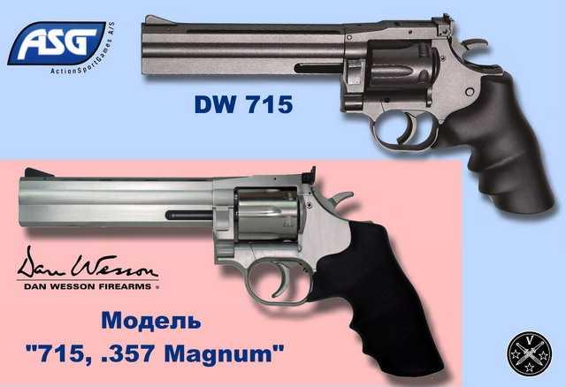 Новый пневматический револьвер ASG DW715