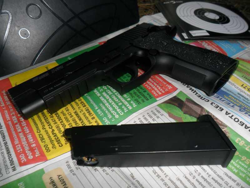 1)Стрельба из пистолета Swiss Arms SIG X-FIVE