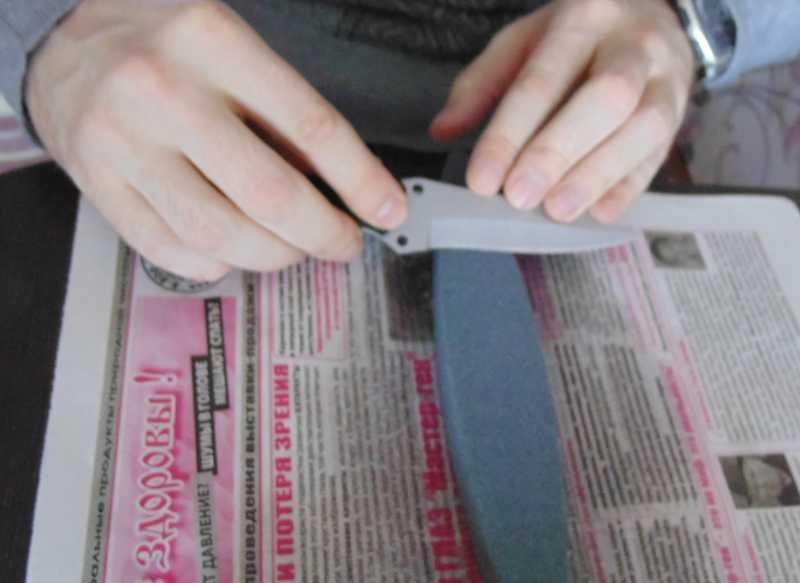 5)Обычная заточка ножа