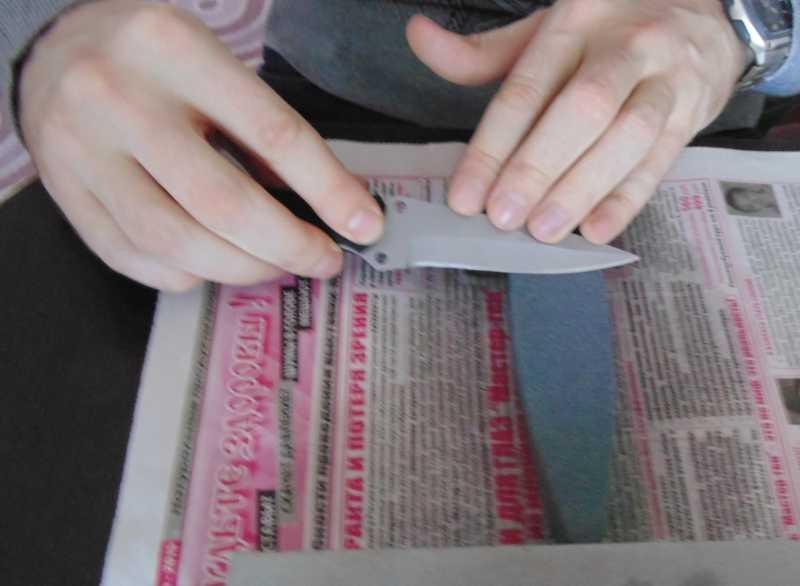 6)Обычная заточка ножа