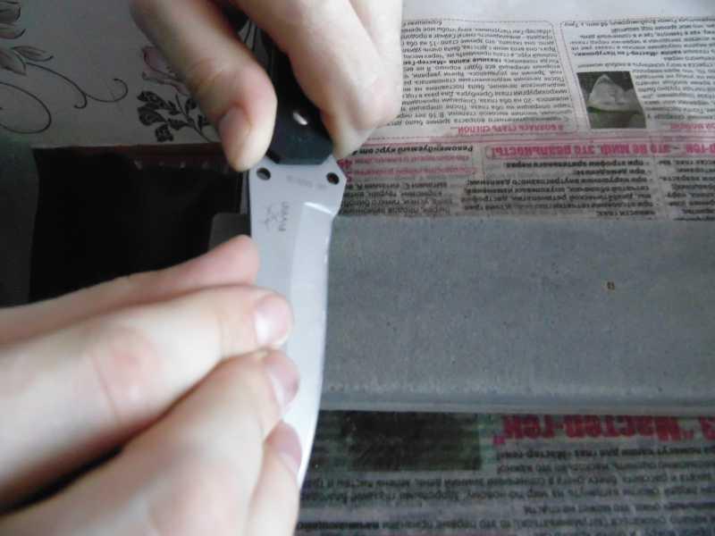 11)Обычная заточка ножа