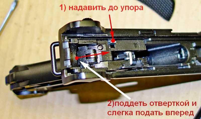 5)Устранение заклинивания УСМ Gletcher Parabellum(частный случай).