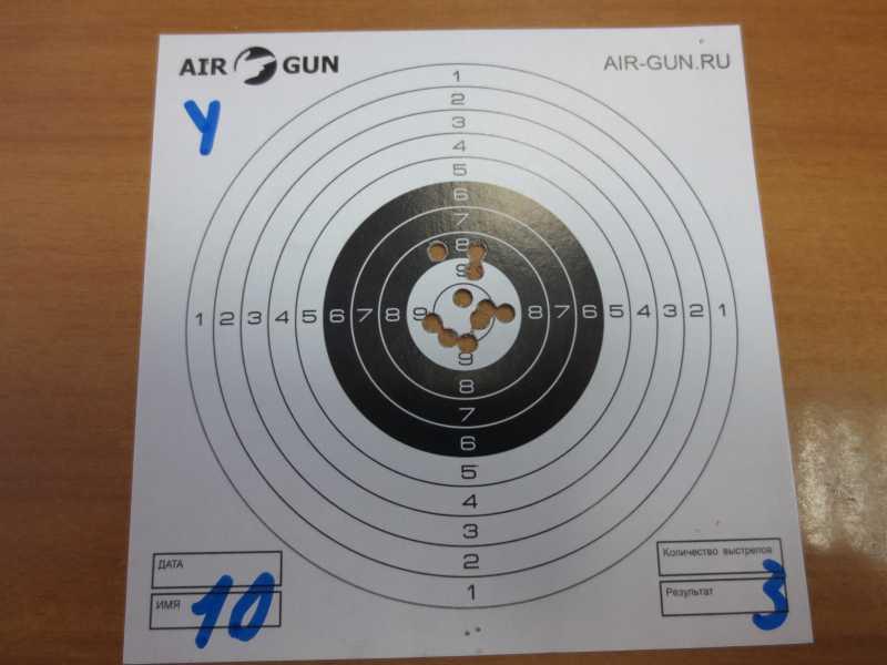 1)Результат стрельбы из Мурки