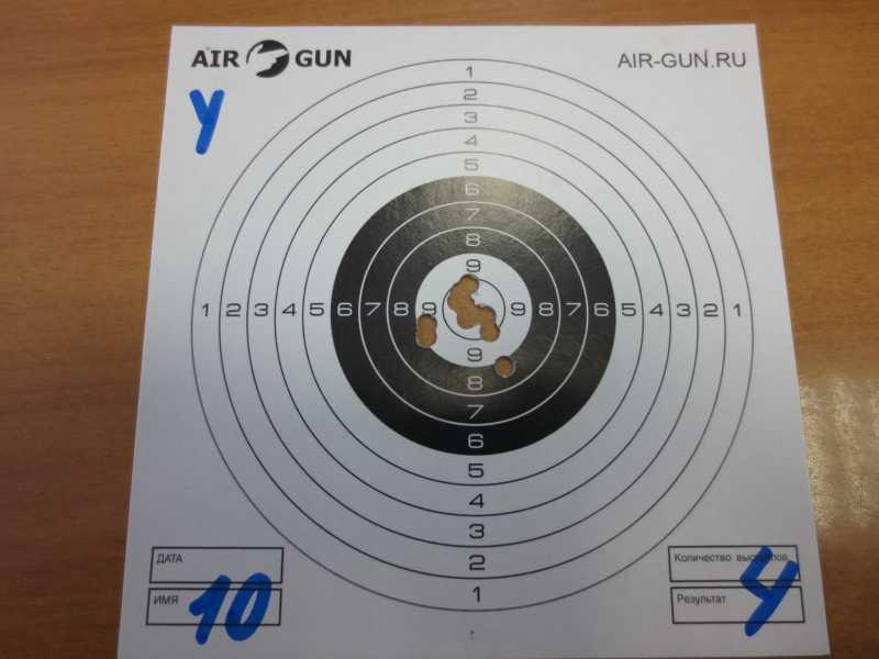 2)Результат стрельбы из Мурки