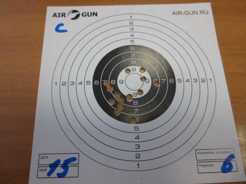 5)Результат стрельбы из Мурки