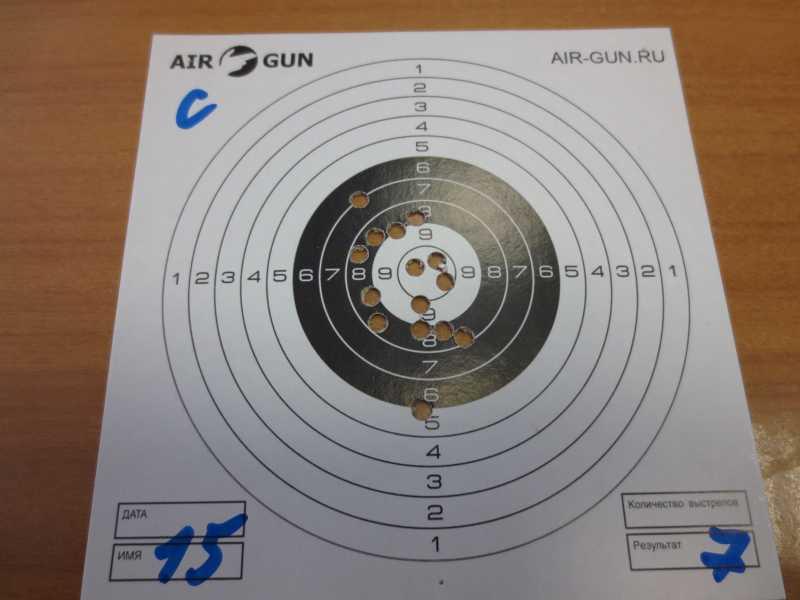 6)Результат стрельбы из Мурки