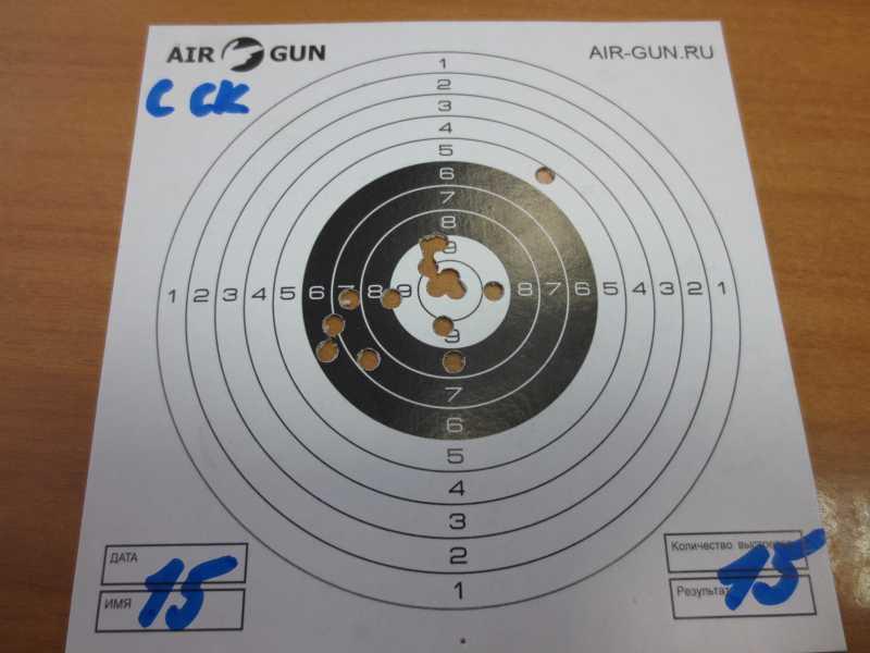 10)Результат стрельбы из Мурки