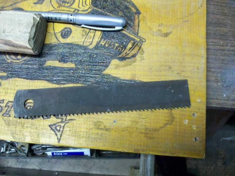 1)Процесс изготовления клинка финского типа