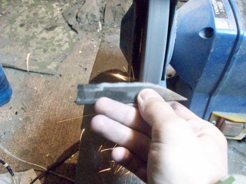 6)Процесс изготовления клинка финского типа
