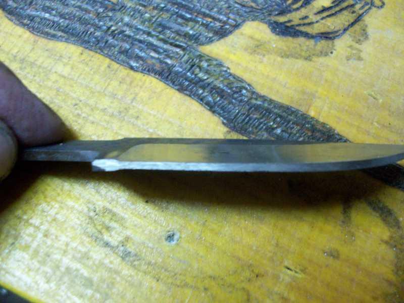 21)Процесс изготовления клинка финского типа