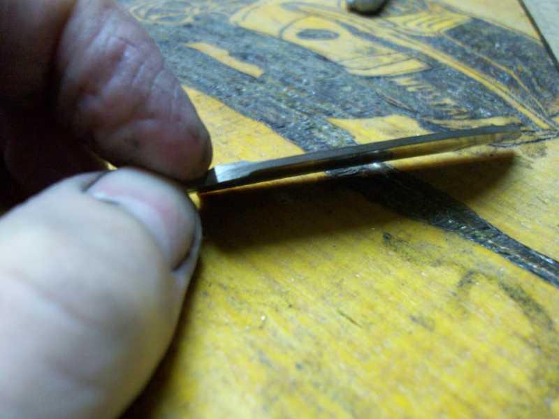 22)Процесс изготовления клинка финского типа
