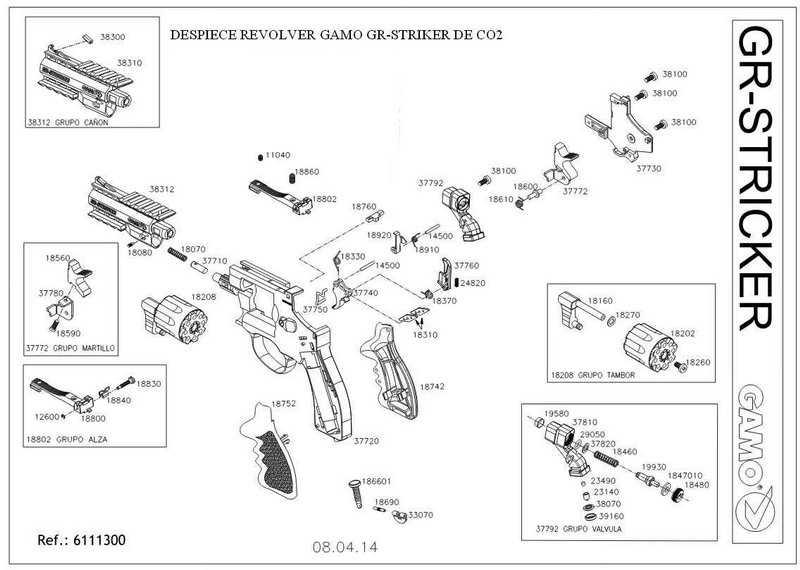Взрыв-схема Gamo GR Striker