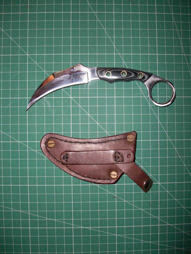 3)Кружок (чехол для ножа своими руками)