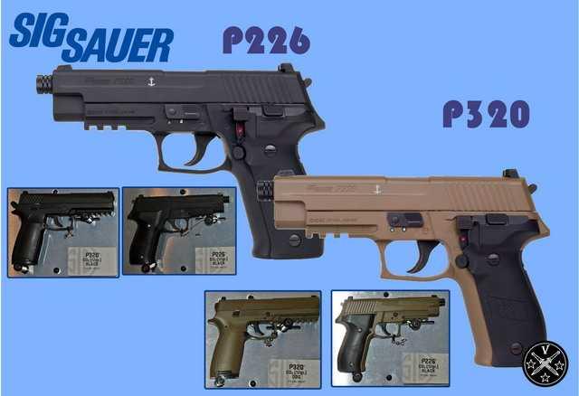 Пневматические пистолеты Sig Sauer P226 и P320