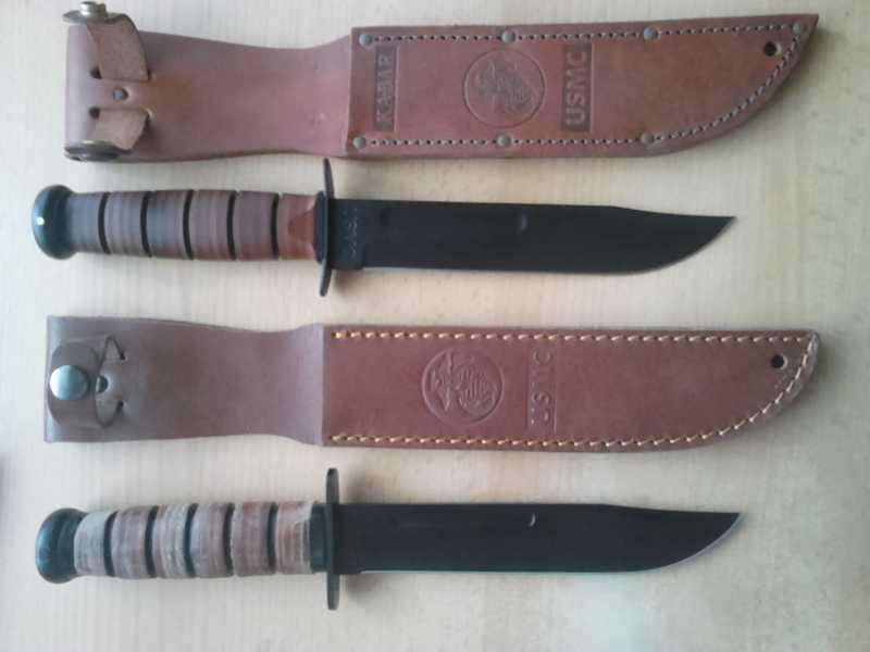 2)Ножи KA-BAR vs. MFH. Найди отличия.
