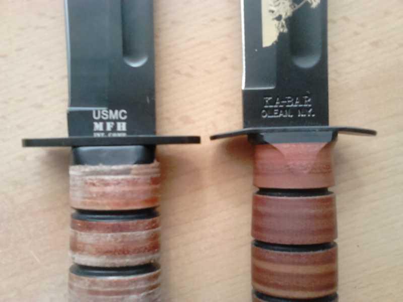 3)Ножи KA-BAR vs. MFH. Найди отличия.