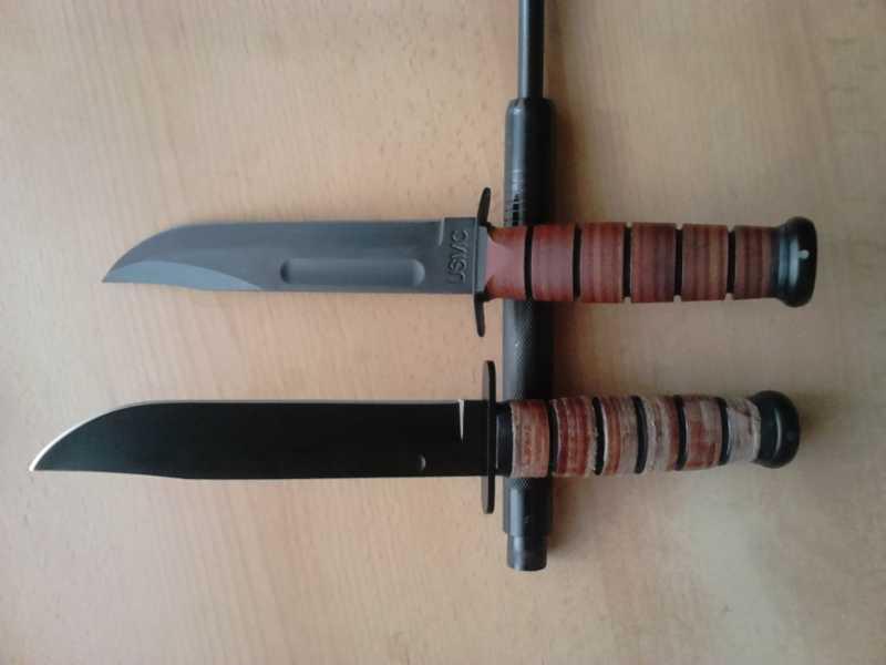 8)Ножи KA-BAR vs. MFH. Найди отличия.