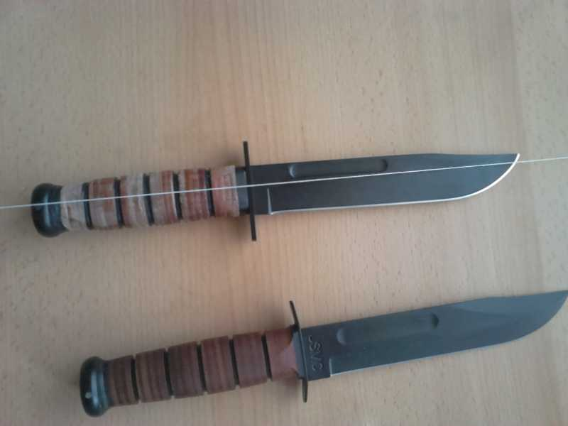 15)Ножи KA-BAR vs. MFH. Найди отличия.