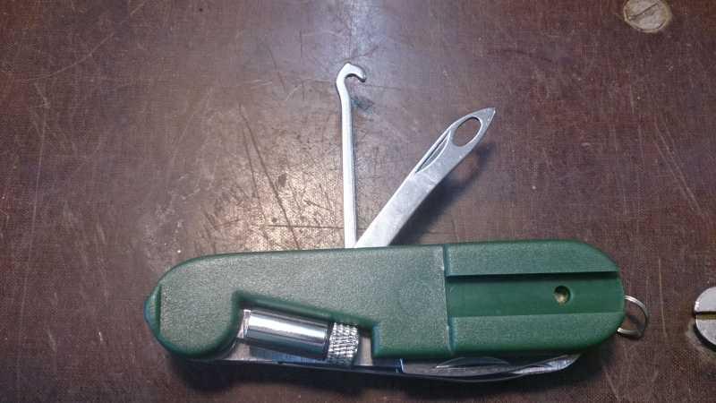 1)Армейский стандарт. (многофункциональный нож)