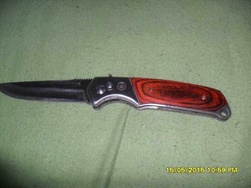 2)Нож складной автомат Min Sheng  подарок на совершеннолетие