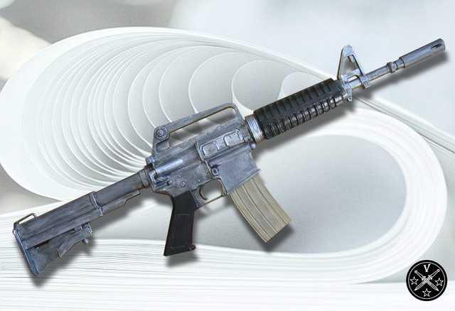 Бумажная модель винтовки