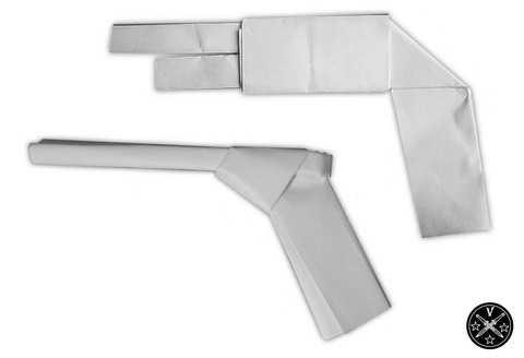 Примитивные бумажные пистолетики