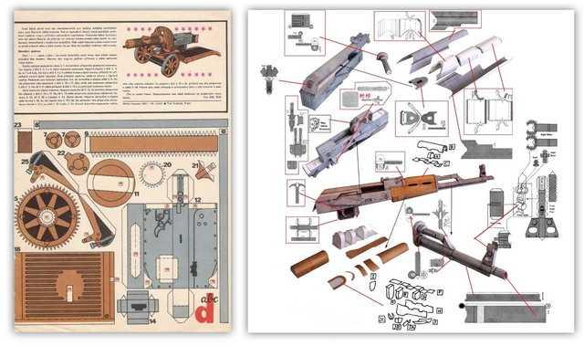 Наборы для бумажного моделирования оружия