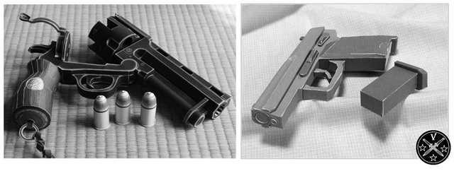 Малофункциональные бумажные модели оружия
