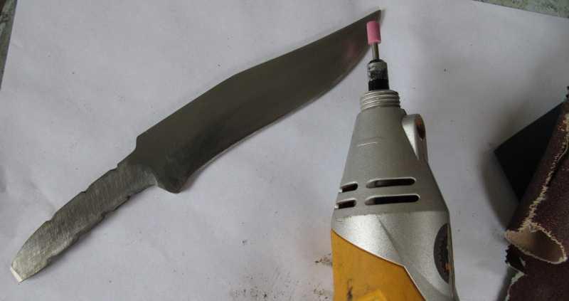 7)Восстановление ножа из тепловозного клапана
