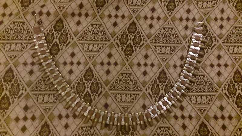 6)Патронная лента  из старой ленточки от стройкаски.