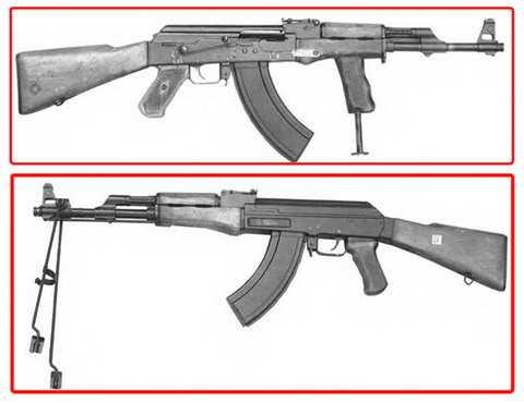 Опытные образцы пулеметов Калашникова