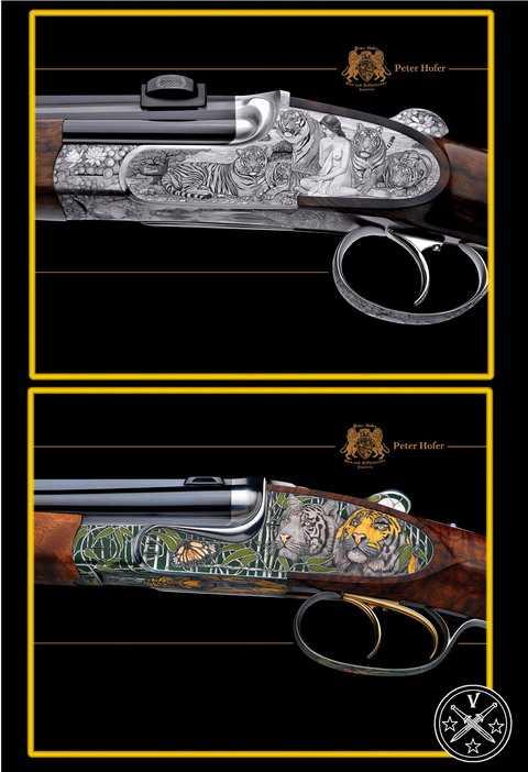 Художественная оттелка ружей Хофера