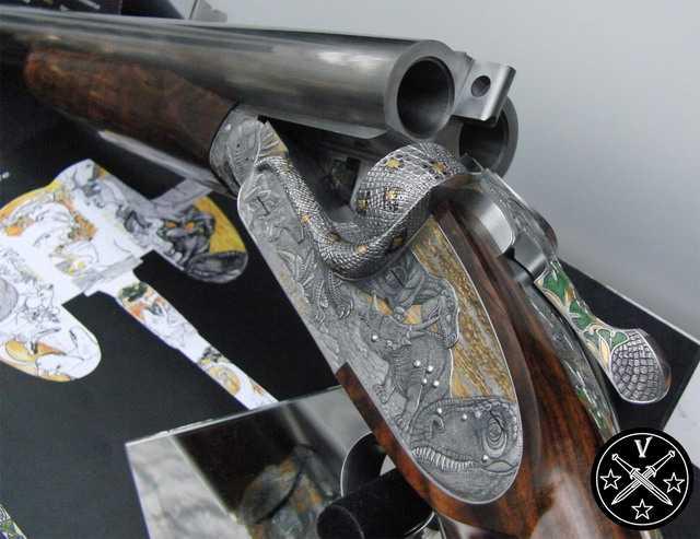 Художественная отделка ружья Монстр