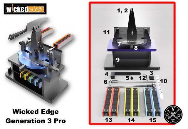 Приспособление для заточки ножей компании «Wicked Edge», модель «Generation 3 Pro»