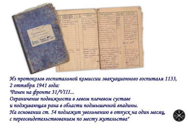 Документы эвакогоспиталя