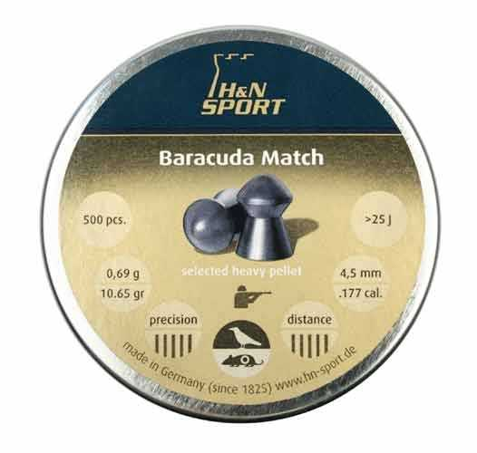 2)Квинтор Гамма 0,7г. vs H&N Barracuda Match 0,69г.