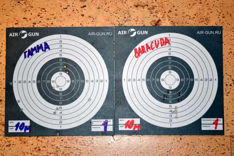 7)Квинтор Гамма 0,7г. vs H&N Barracuda Match 0,69г.
