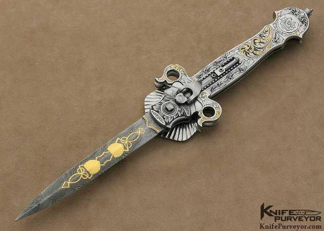 Нож с открытым клинком